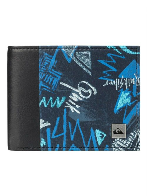 NEW QUIKSILVER MENS WALLET.NEW FRESHNESS BLUE MONEY NOTE COIN PURSE 9W 3561 BRQ8